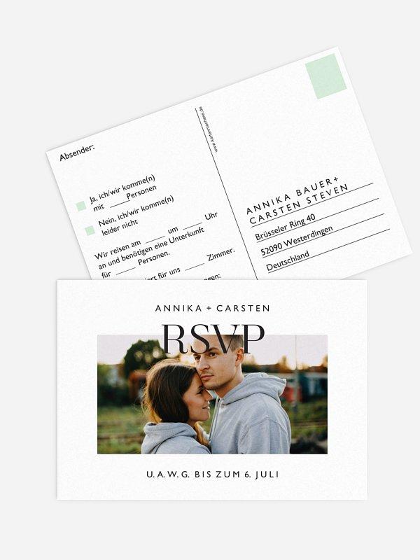 Antwortkarte Hochzeit Simplicity