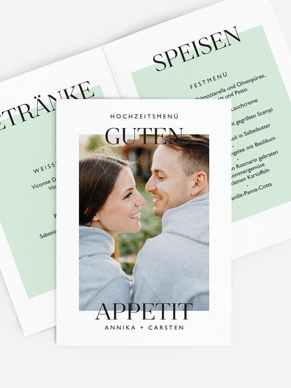 Menükarte Hochzeit Simplicity