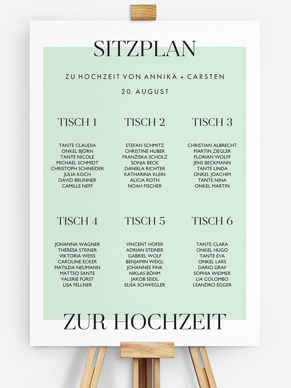 Sitzplan Plakat Simplicity