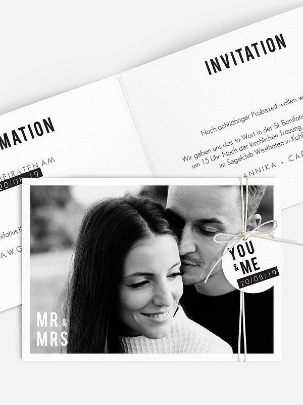 Hochzeitseinladung You & Me