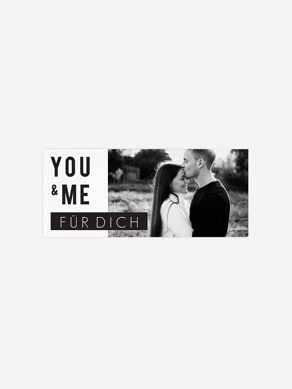 Geschenkaufkleber Hochzeit You & Me