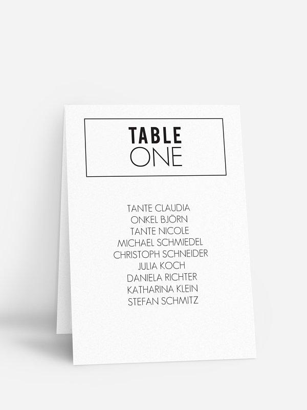 Gruppentischkarte You & Me
