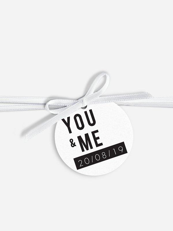 Anhänger mit Band zur Hochzeit You & Me