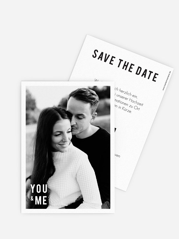 Save-the-Date Karte You & Me
