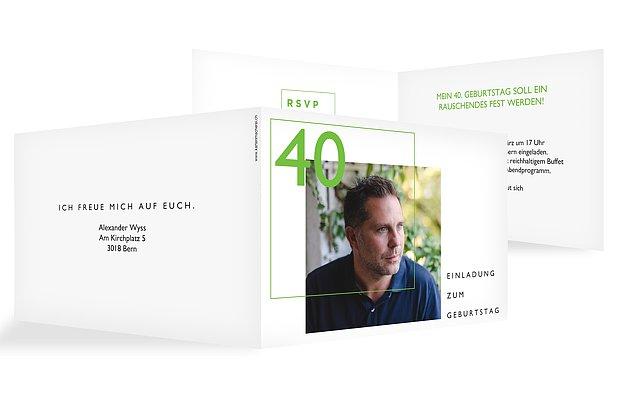 Einladung 40. Geburtstag Shapely