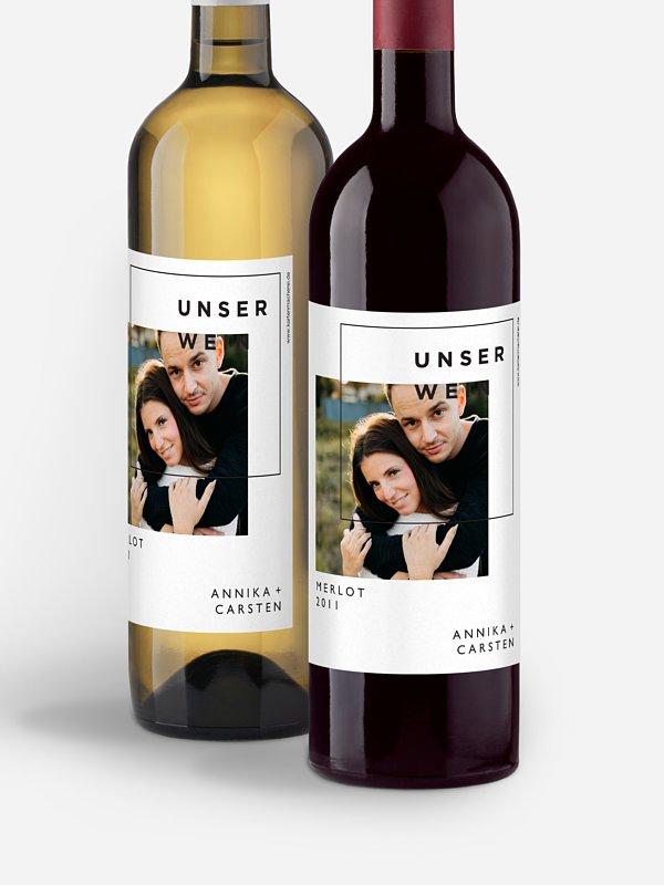 Flaschenetikett Hochzeit Shapely