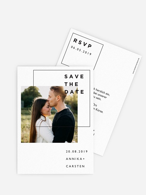 Save-the-Date Karte Shapely