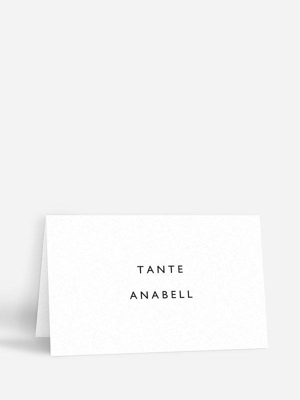 Tischkarte Hochzeit Shapely