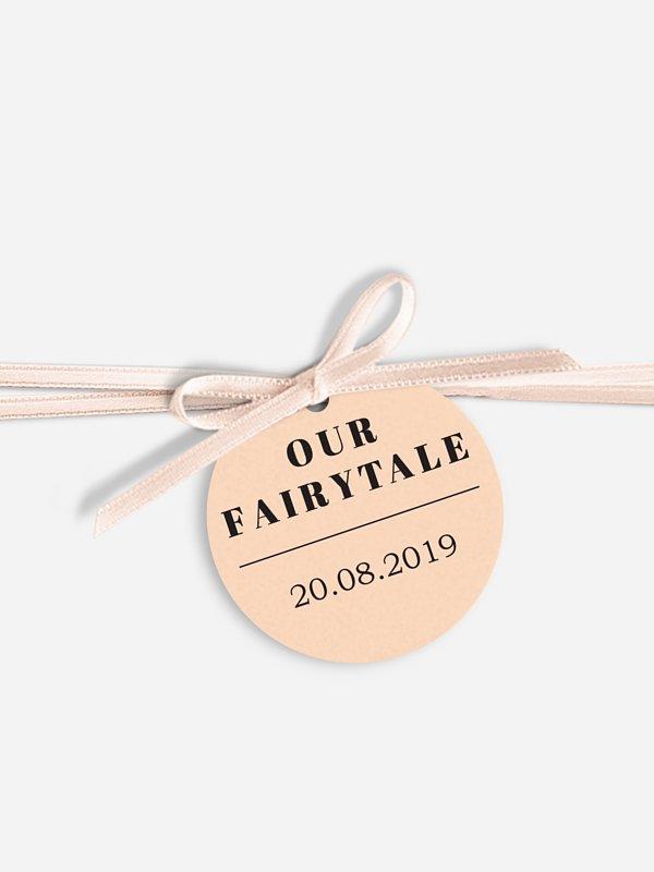 Anhänger mit Band zur Hochzeit Fairytale