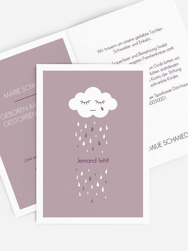 Trauerkarte Kleine Wolke