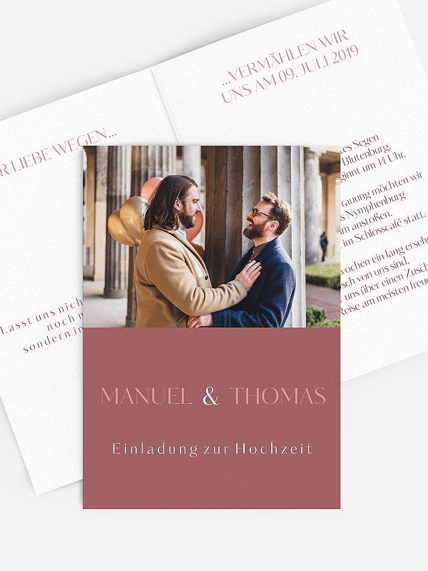 Hochzeitseinladung Zweisam