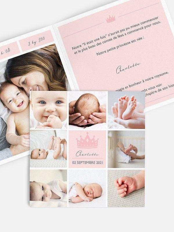 Faire-part naissance Petite princesse