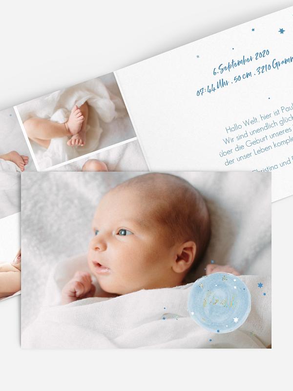 Geburtskarte Himmelsglück