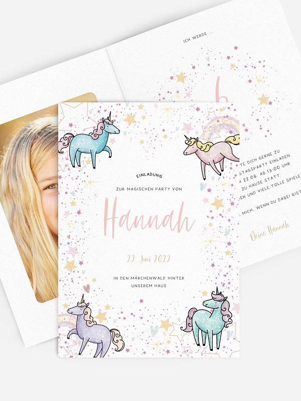 Kindergeburtstagseinladung Magical Unicorn
