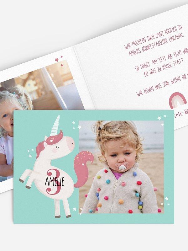 Kindergeburtstagseinladung Little Unicorn