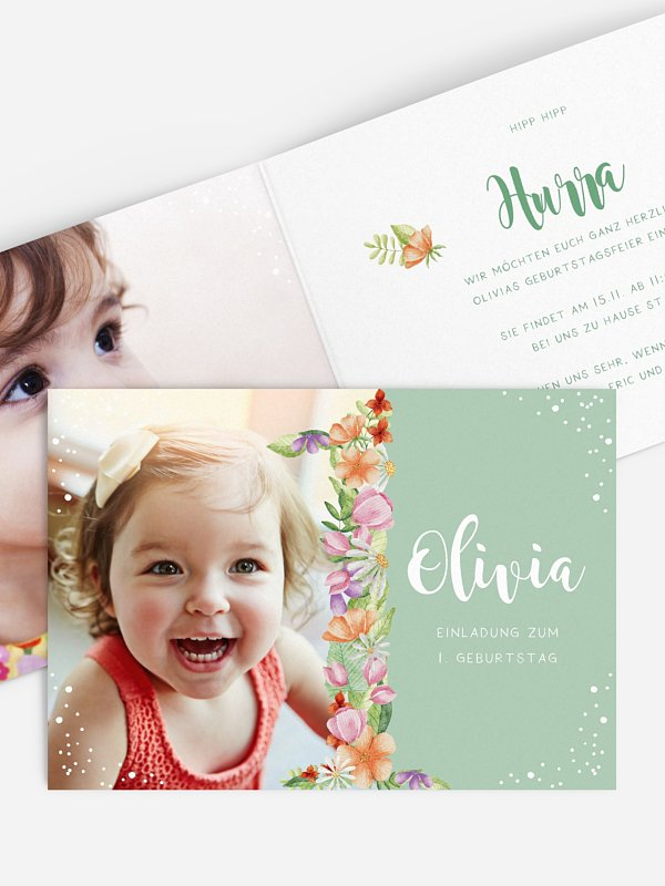 Kindergeburtstagseinladung Floral One