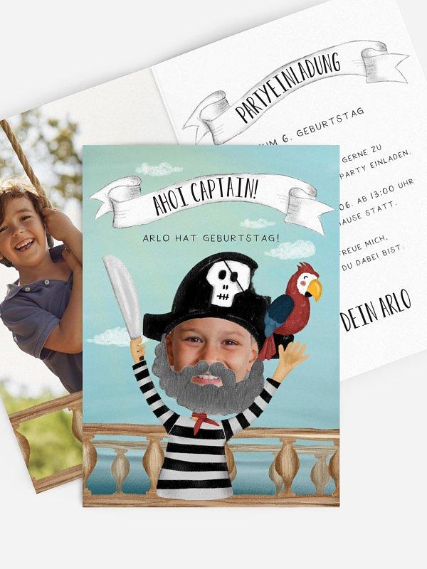 Kindergeburtstagseinladung Pirate Captain