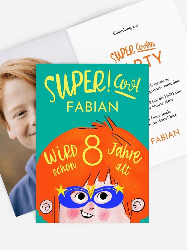 Kindergeburtstagseinladung Superhero