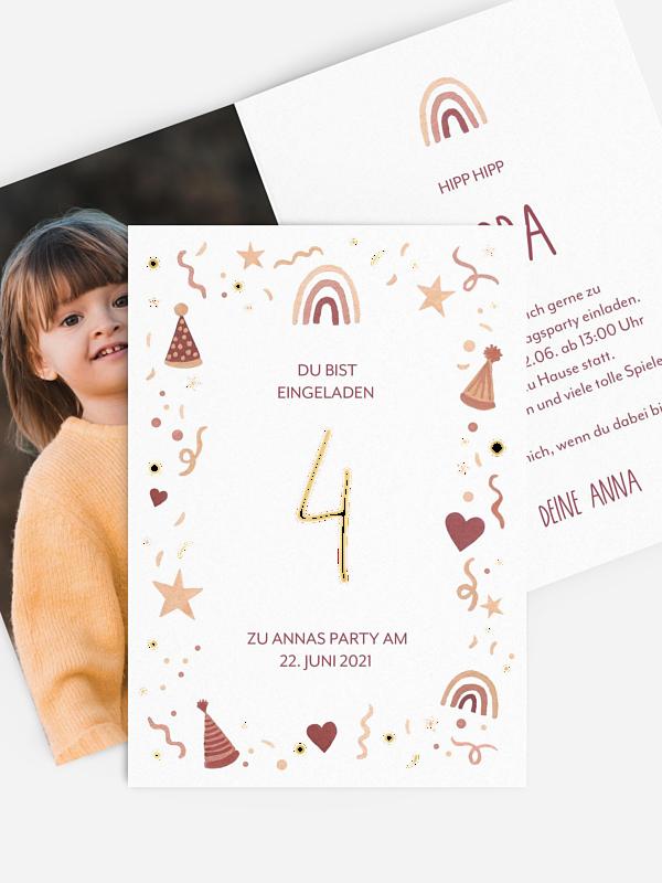 Kindergeburtstagseinladung Little Party