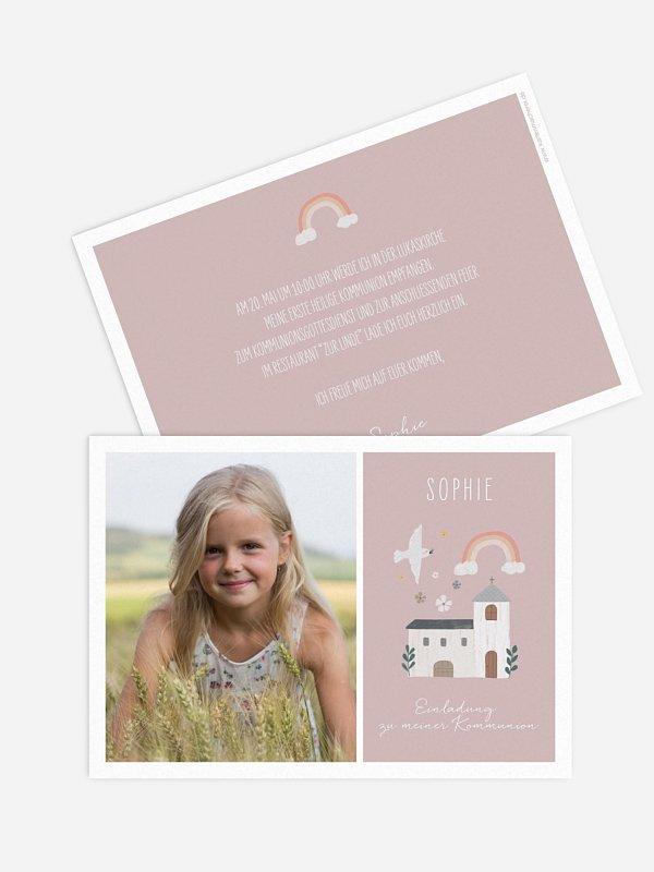 Kommunionseinladung Kleine Kirche Foto