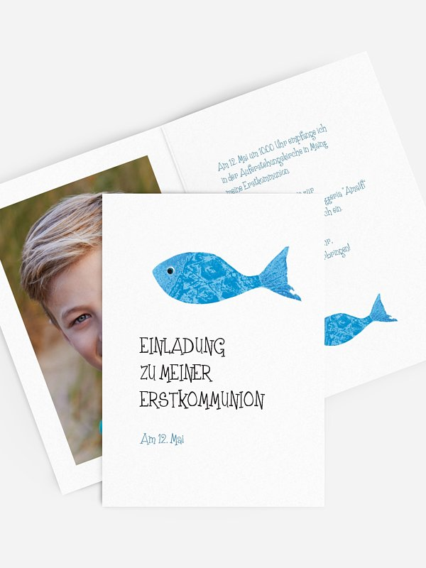 Kommunionseinladung Holy Fish