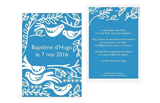 Faire-part baptême Birdsong