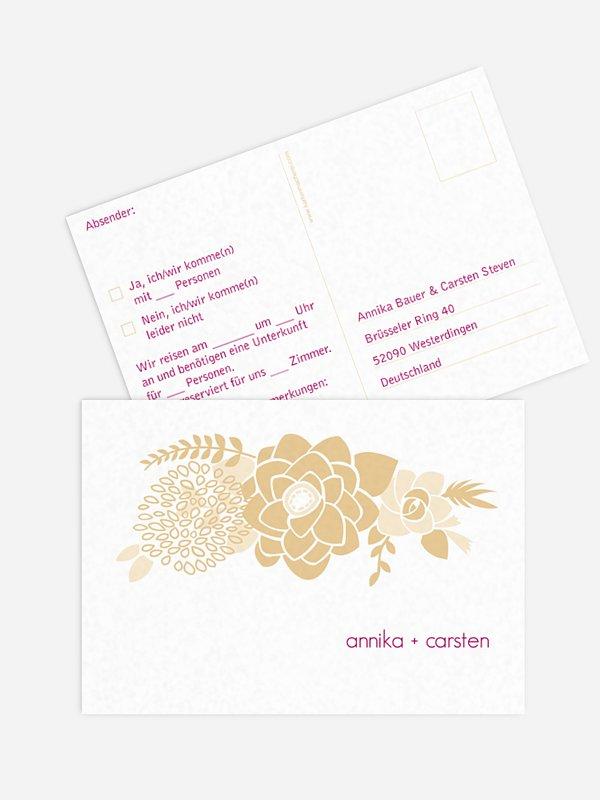 Antwortkarte Hochzeit Camelia