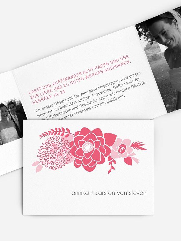 Dankeskarte Hochzeit Camelia