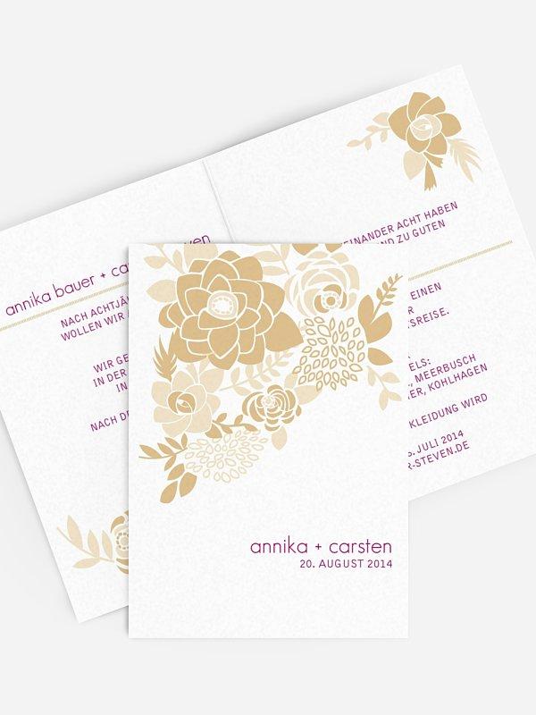 Hochzeitseinladung Camelia
