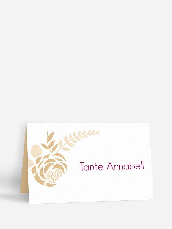 Tischkarte Hochzeit Camelia