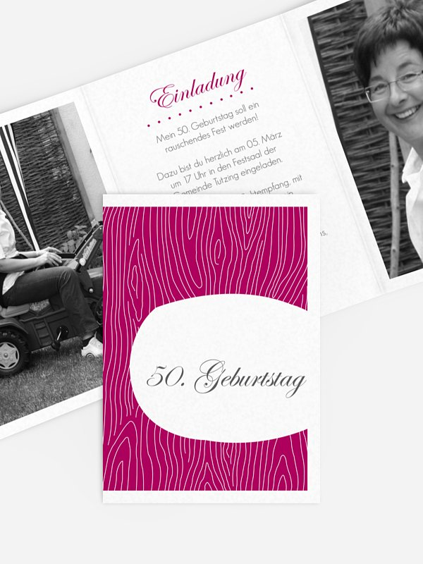 Einladung 50. Geburtstag Grove