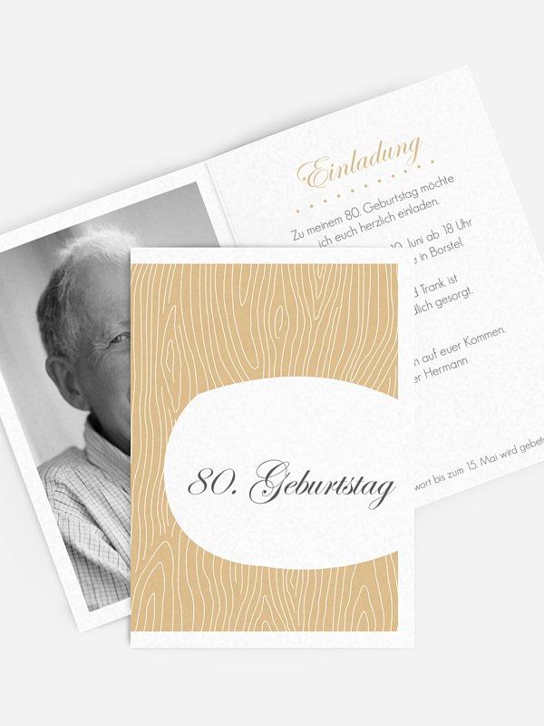 Einladung 80. Geburtstag Grove