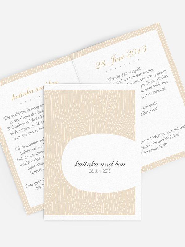 Einladung zur Goldenen Hochzeit Grove