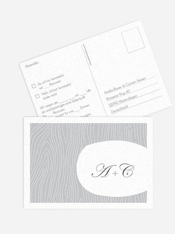 Antwortkarte Hochzeit Grove