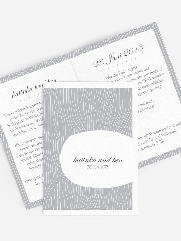 Einladung zur Silberhochzeit Grove