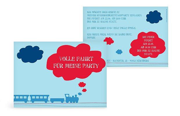 Kindergeburtstagseinladung Eisenbahn