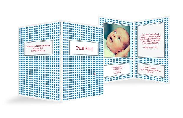"""Geburtskarten """"Kästchen"""""""