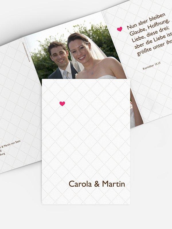 Dankeskarte Hochzeit Herzchen