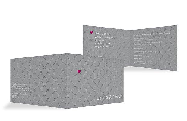 Hochzeitseinladung Herzchen
