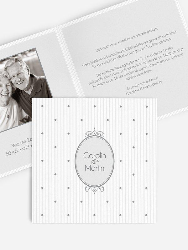 Einladung zur Goldenen Hochzeit Punkte
