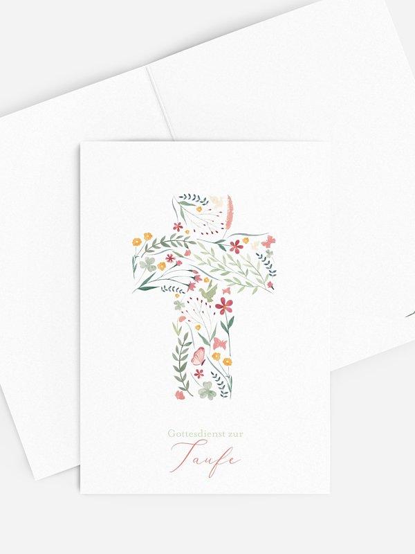Kirchenheft Taufe Blumenkreuz