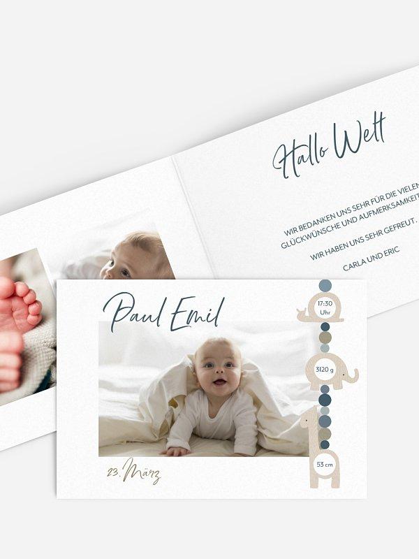 Geburtskarte Schnullerkette
