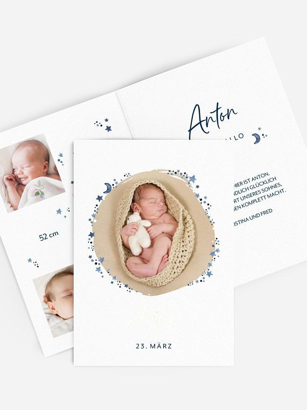 Geburtskarte Little Star