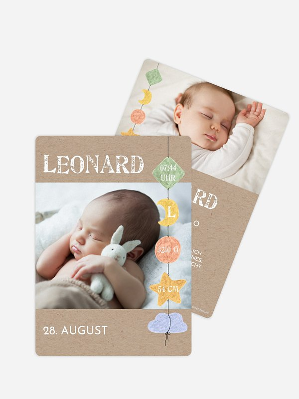 Geburtskarte Mobile