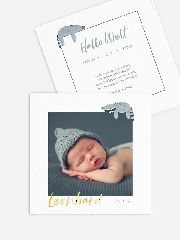 Geburtskarte Schlafenszeit
