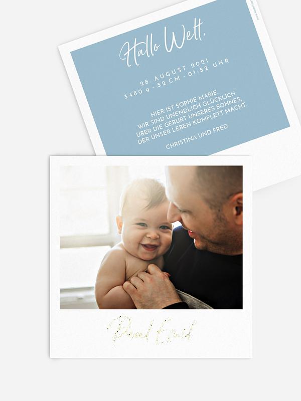 Geburtskarte Retrobild