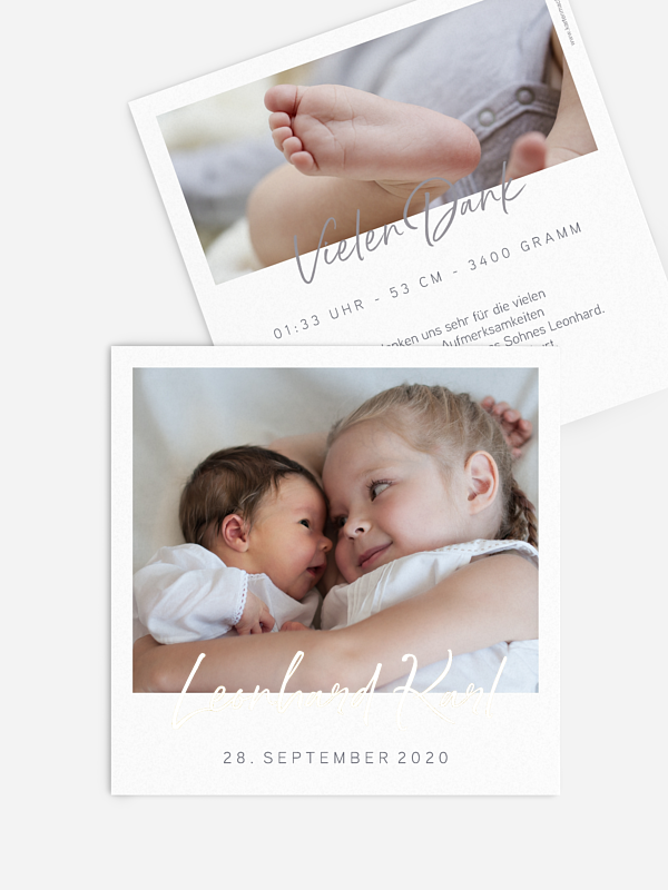 Geburtskarte Petit Amour