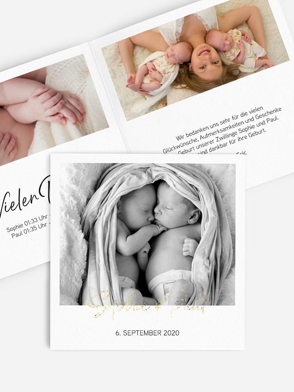 Zwillingskarte Petit Amour