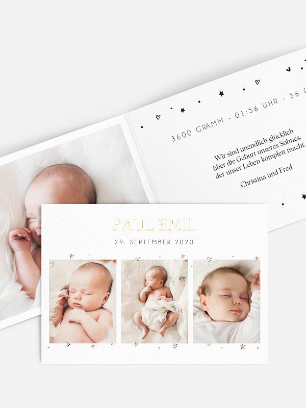 Geburtskarte Sternlein