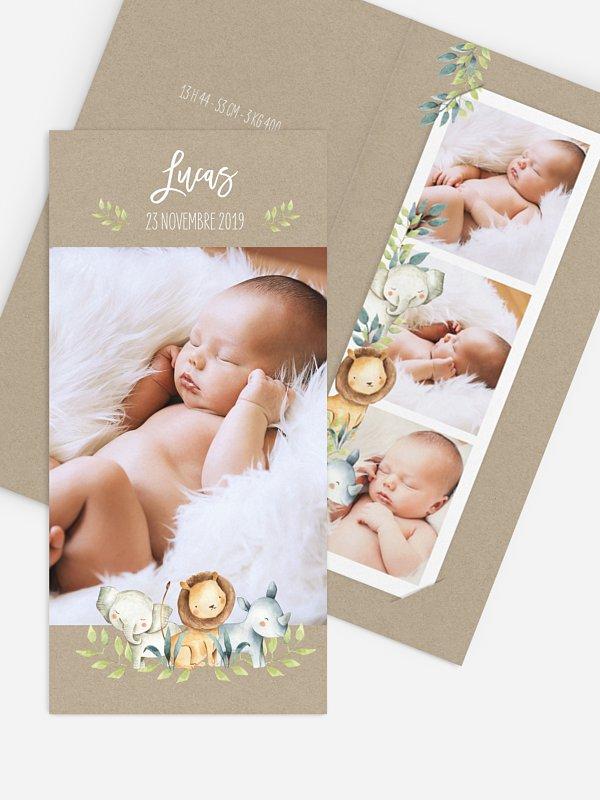 Faire-part naissance Safari